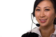 Telephone operator receptionist Stock Photos