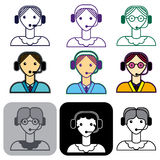 The telephone-operator Royalty Free Stock Photo