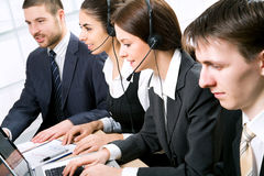 Telephone operators Royalty Free Stock Images
