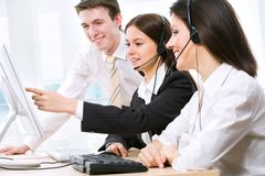 Telephone operators Stock Images