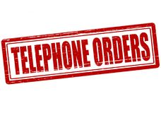 Telephone orders. Stamp with text telephone orders inside,  illustration Stock Photo