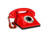 Telephone over white Royalty Free Stock Photos