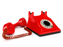 Telephone over white Royalty Free Stock Photography