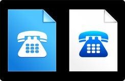 Telephone on Paper Set Royalty Free Stock Image