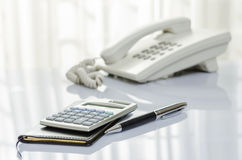 Telephone and personal organizer Stock Image