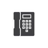 Telephone, phone icon vector, filled flat sign, solid pictogram isolated on white. Stock Images