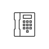 Telephone, phone line icon, outline vector sign, linear style pictogram isolated on white Stock Image