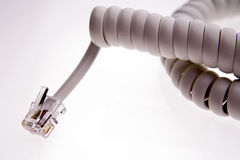 Telephone plug Royalty Free Stock Photography