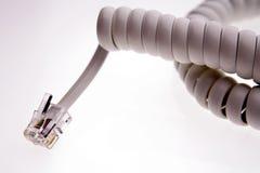 Telephone plug royalty free stock photography