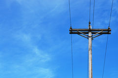 Telephone pole Royalty Free Stock Images