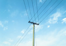 Telephone pole Royalty Free Stock Photos