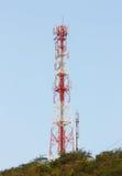 Telephone pole on blue sky Stock Photo