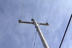 Telephone pole power line Stock Image