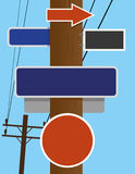 Telephone Pole Signs Stock Photos