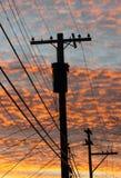 Telephone pole. Royalty Free Stock Photography