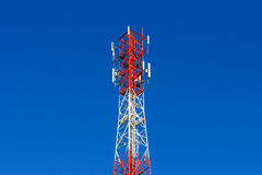 Telephone pole telecommunications tower Royalty Free Stock Photo