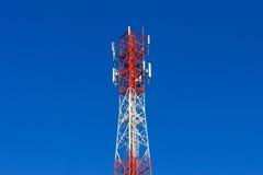 Telephone pole telecommunications tower Royalty Free Stock Photo