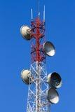 Telephone pole telecommunications tower Stock Image