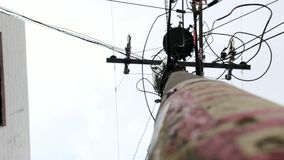 Telephone Pole Or Utility Pole stock video