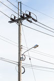 A telephone pole Royalty Free Stock Photo