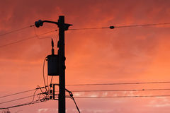 Telephone Pole and Wires Royalty Free Stock Photo