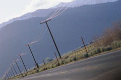 Telephone poles Stock Photos