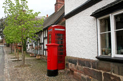 Telephone and post box Royalty Free Stock Photos