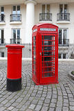 Telephone and post box Stock Photography