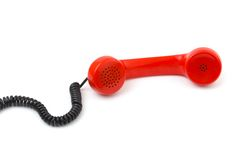 Telephone receiver and cable Stock Photography