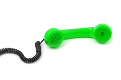 Telephone receiver and cable Stock Image