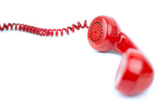 Telephone receiver and cord royalty free stock photography