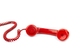Telephone receiver and cord stock photography