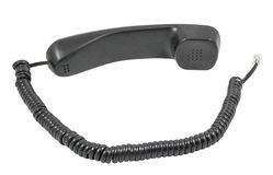 Telephone receiver and cord Royalty Free Stock Image