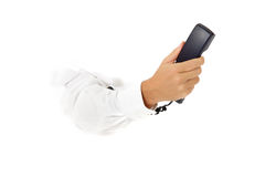 Telephone receiver, hand. Royalty Free Stock Photography