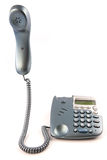Telephone with receiver of the hook. On a white background Royalty Free Stock Photography