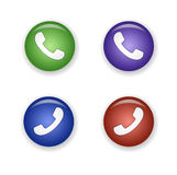 Telephone receiver icon set vector Royalty Free Stock Image