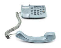 Telephone and receiver Royalty Free Stock Photo