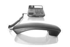 Telephone with receiver off Royalty Free Stock Photography