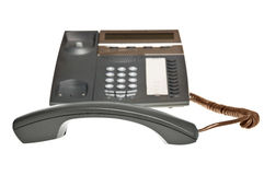 Telephone receiver off the hook Royalty Free Stock Photo