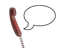 Telephone receiver and speech bubble Royalty Free Stock Photography