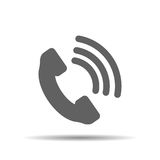 Telephone receiver vector icon Royalty Free Stock Photography