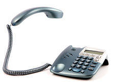 Telephone with reciever Royalty Free Stock Photography