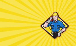 Telephone Repairman Lineman Worker Phone Stock Photos