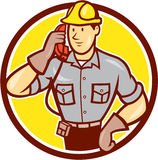 Telephone Repairman Phone Circle Cartoon Royalty Free Stock Photo