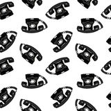 Telephone retro seamless pattern Stock Image