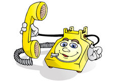 Telephone service call Stock Images
