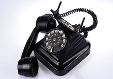 Telephone set. A telephone set is made in Finland at the beginning of the nineteenth Stock Images