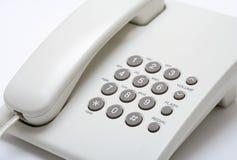Telephone set. Against white background Royalty Free Stock Images