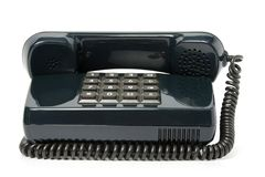 Telephone set of black color Royalty Free Stock Images