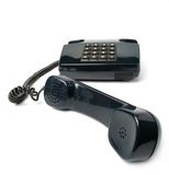 Telephone set of black color Stock Photography